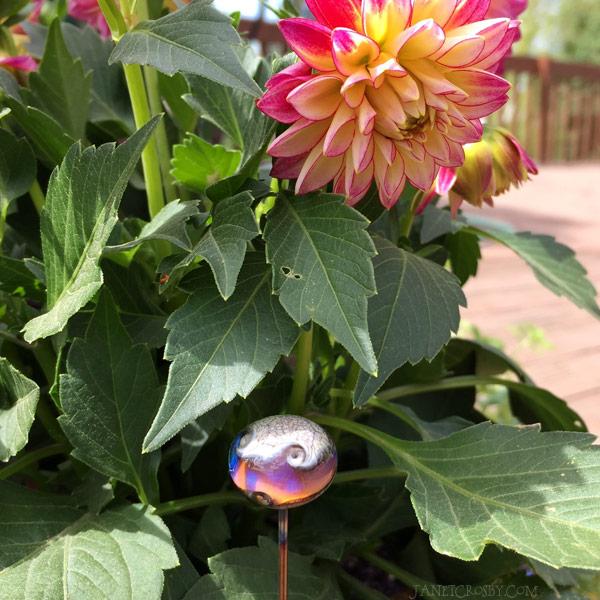 Purple Wave Jewel Plant Stake by Janet Crosby