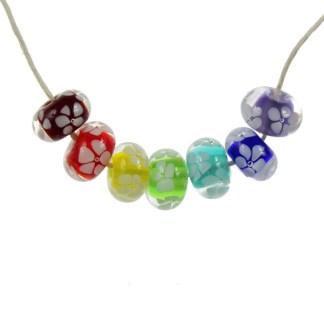 Rainbow Glass Lei by Janet Crosby