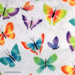 Watercolor Butterflies Spoonflower Fabric Close-Up by Janet Crosby.com