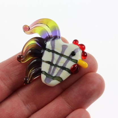 Plaid Rooster by Janet Crosby