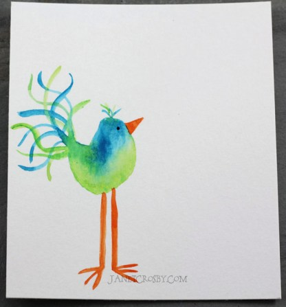 Watercolor Bird Notecards Group 1 by Janet Crosby