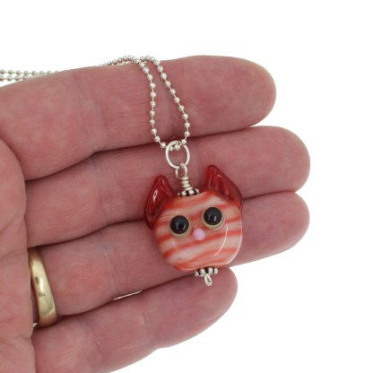 Ginger Tabby Cat Necklace - Janet Crosby