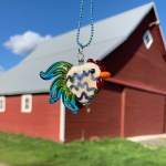Electric Zig Zag Rooster Necklace by Janet Crosby