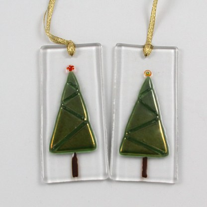 Ornament Triangle Tree by Janet Crosby
