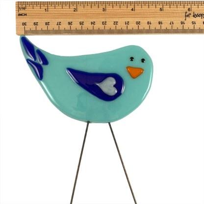 Garden Bird - Blue Bird Love by Janet Crosby
