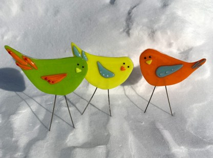 Mini Flock - Garden Birds by Janet Crosby