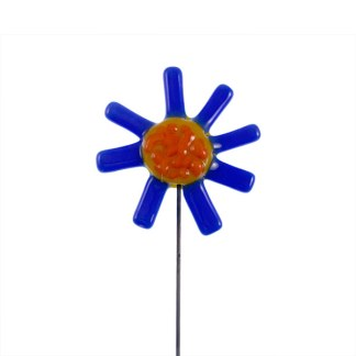 Garden Stake - Spiky Blue Flower