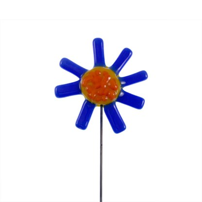 Garden Stake - Spiky Blue Flower