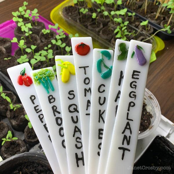 Garden Veggie Stakes by Janet Crosby