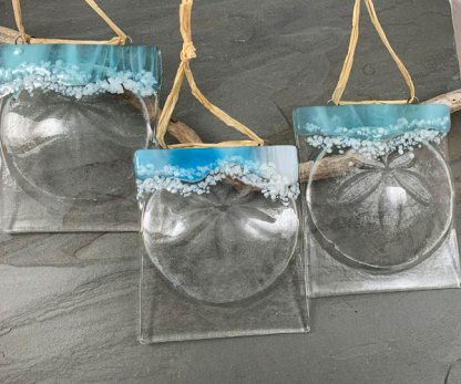 Sand dollar suncatcher by Janet Crosby