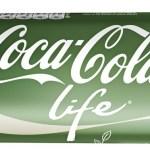 The coke bottle label up close for Coke Life