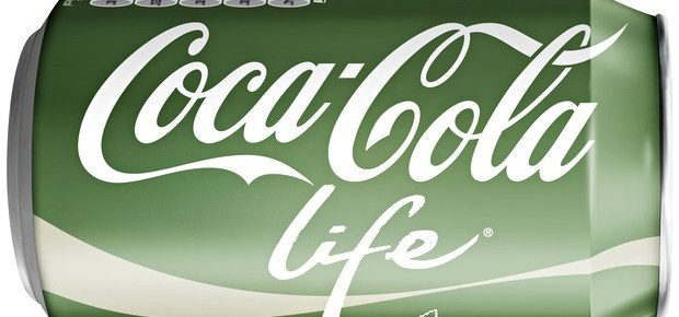 The coke bottle label up close for Coke Life