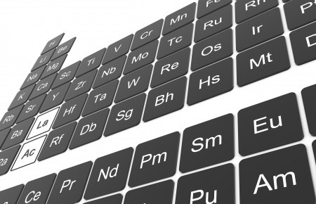 a black and white periodic table