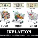 3 shopping carts showing inflation