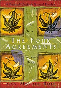 the jacket cover for the book, The Four Agreements