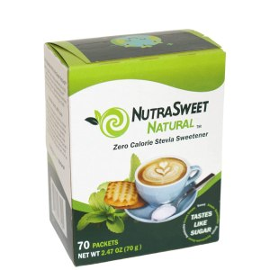 a box of NutraSweet Natural