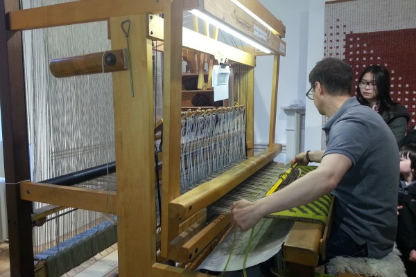 Weaving at Wool, Somerset House