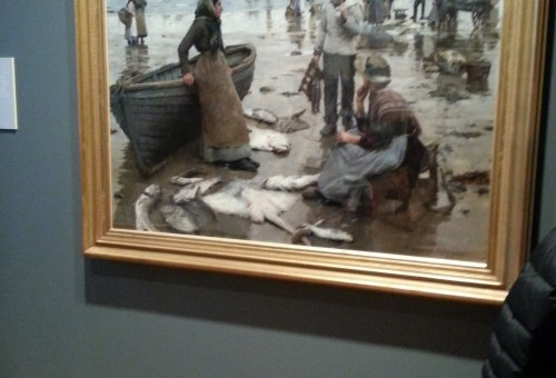 'A Fish Sale on a Cornish Beach' Stanhope Forbes 1885
