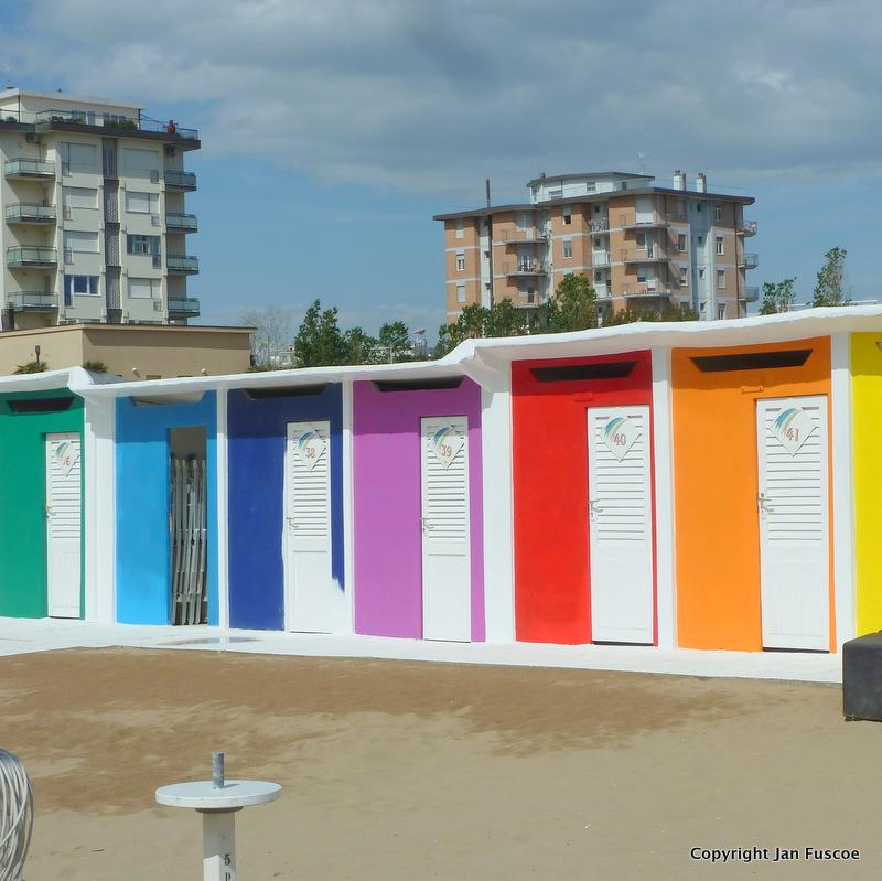 Rimini beach huts