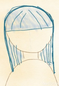 Haare zeichnen Pony fertig