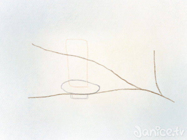 Nadelzweig zeichnen Tannenzweig – 04