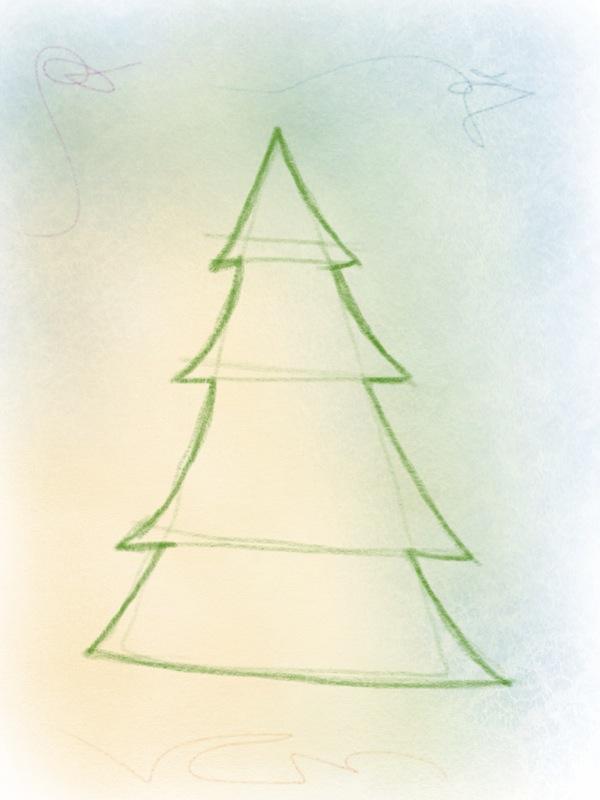 weihnachtsbaum zeichnen – 06