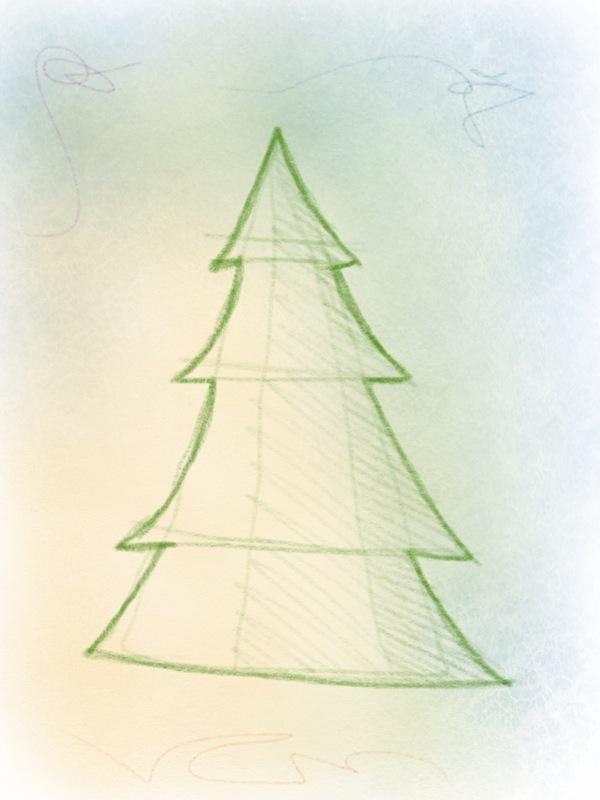 weihnachtsbaum zeichnen – 08