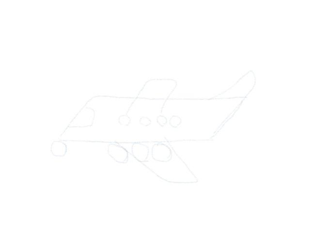 Flugzeug Zeichnen Fenster
