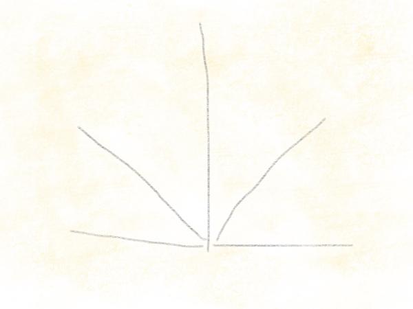 Kastanienblatt zeichnen – 03