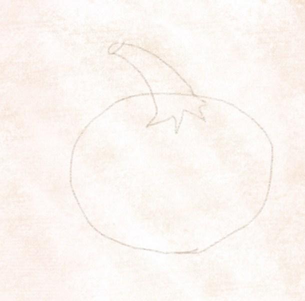 Den Kürbisstil zeichnen