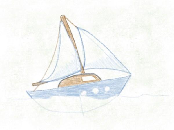 Segelboot – Segel ausmalen