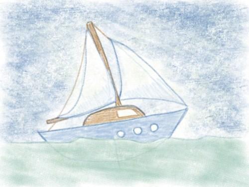Segelboot zeichnen ganz einfach gemacht