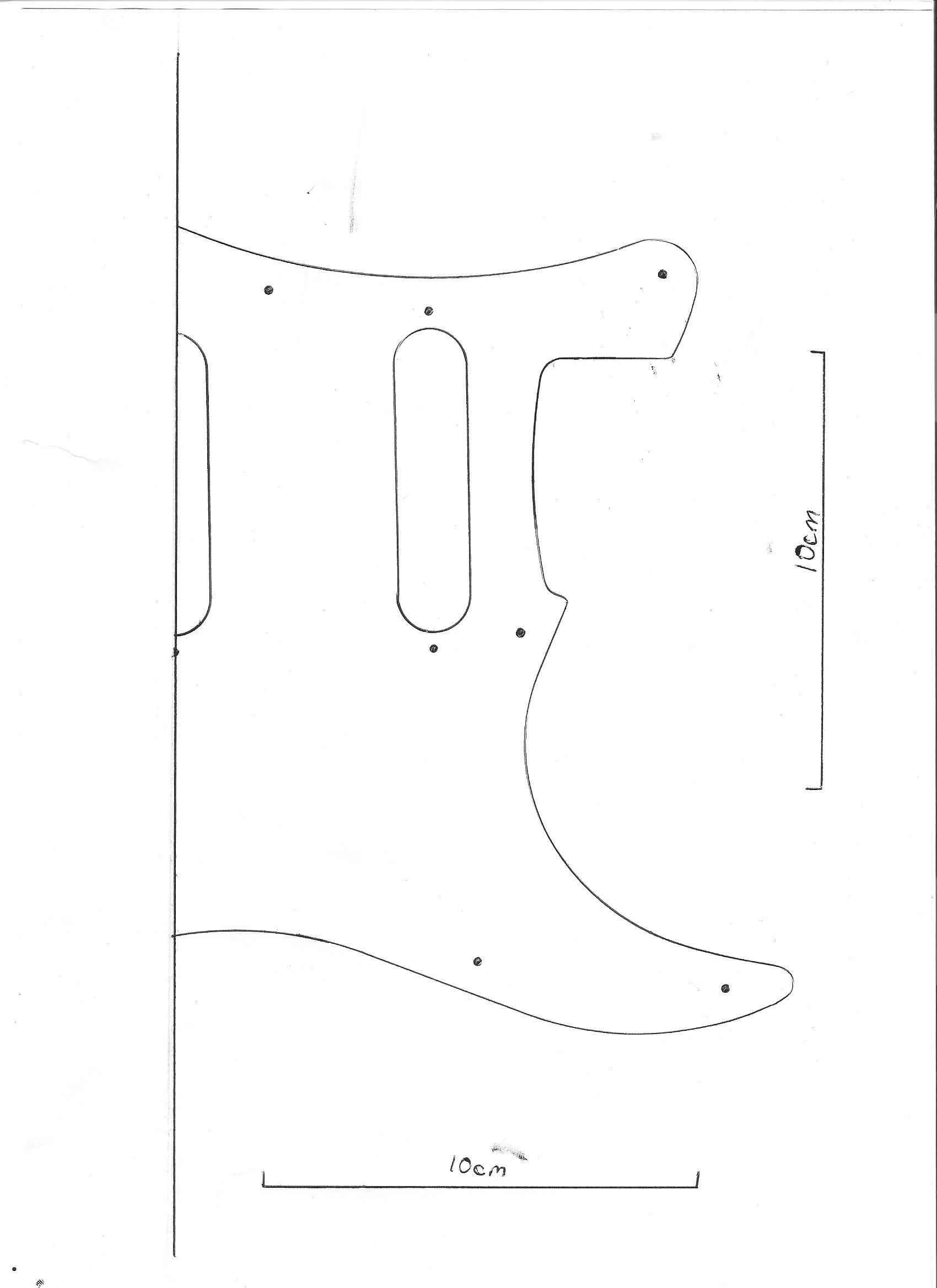 Electric Guitar Scratchplate Hss Humbucker Scratch Plate