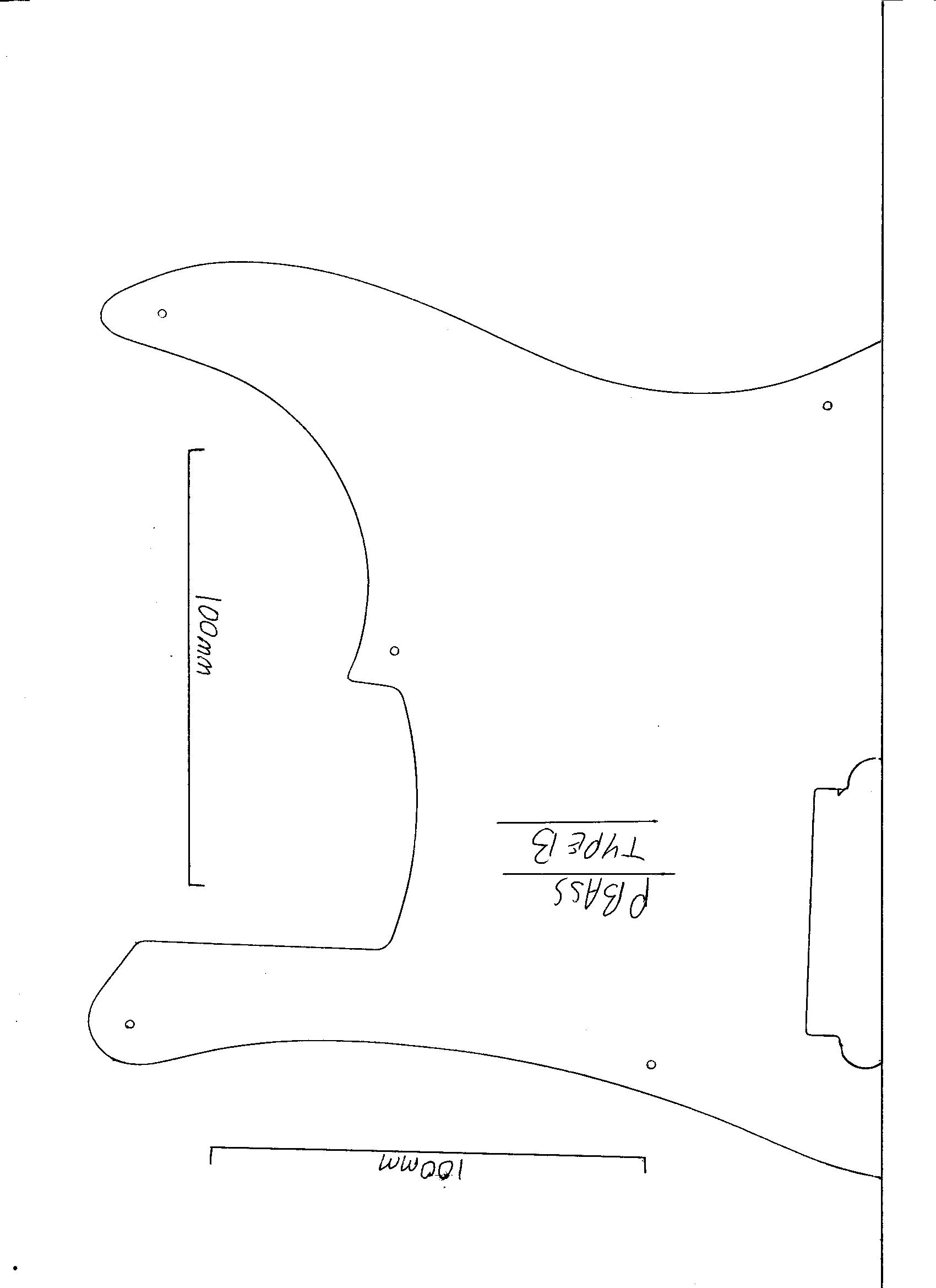 Precision Bass Guitar Pickguard 3 Ply Black Scratch Plate