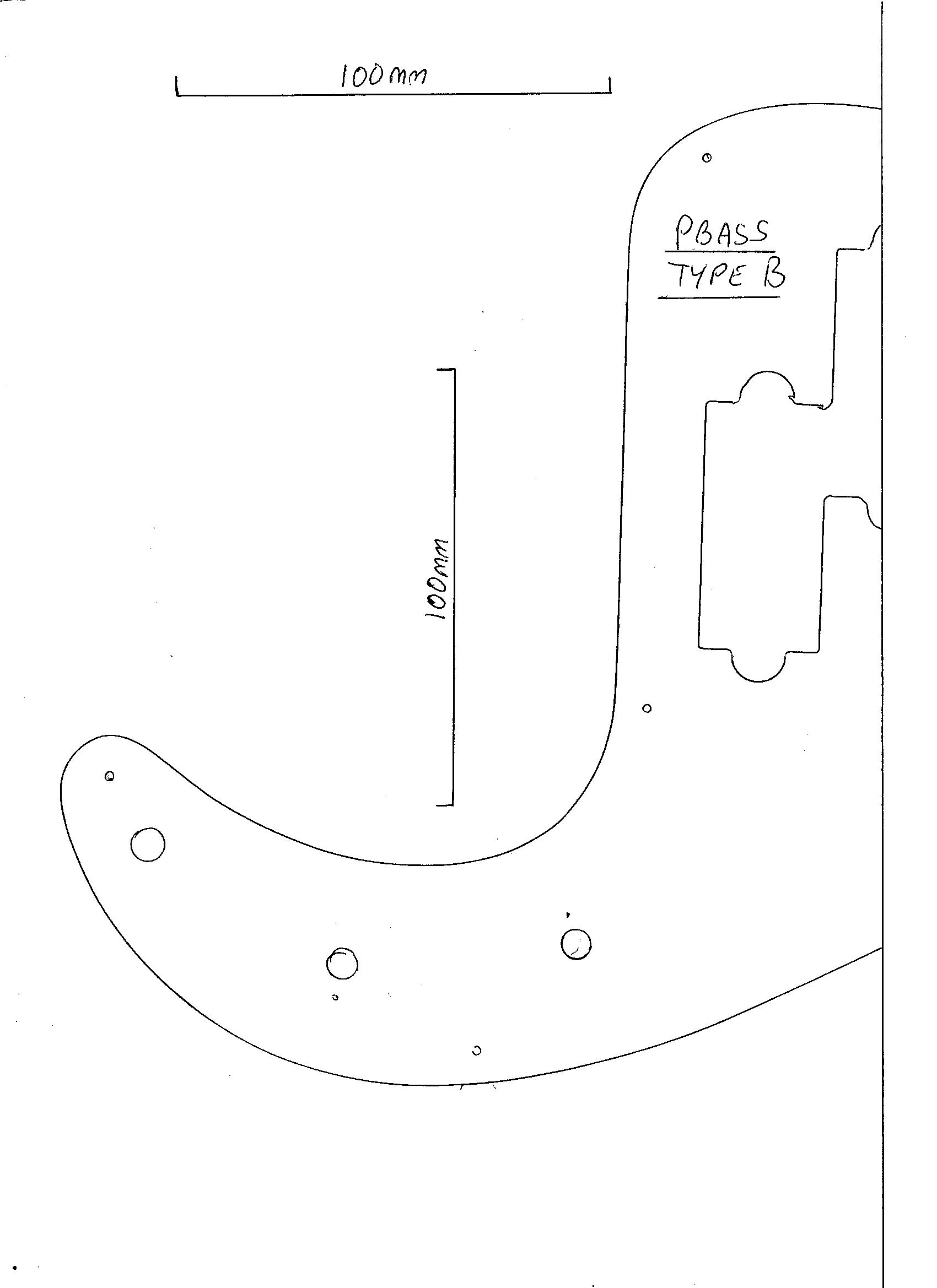 Precision Bass Guitar Pickguard 3 Ply Black Scratch Plate Pick Guard Pb Bwb B