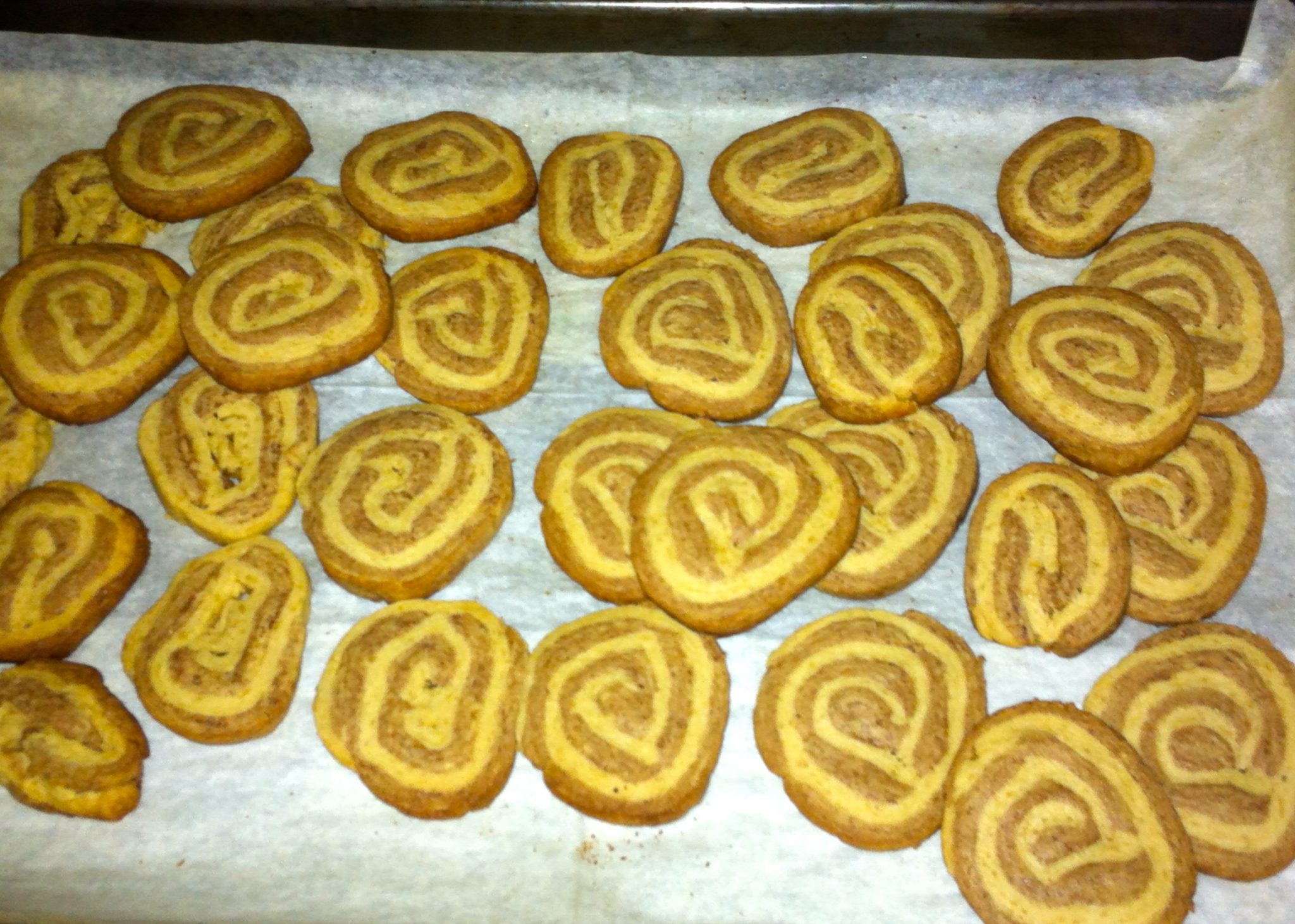 Ice box cookies right out of the oven