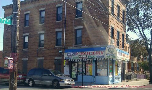 Corner of 77th Street and 89th Avenue--The Deli that Was At the End of My Block Is Still There But More of a Bodega Now.