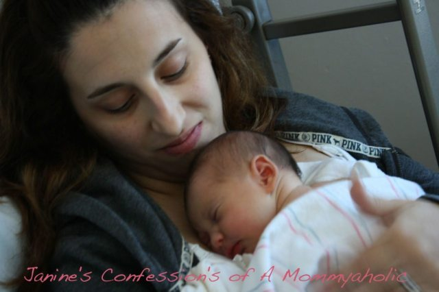 Emma and I When She Was Hours Old!