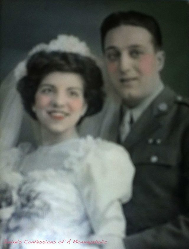 November 19, 1944--My Grandparents on Their Wedding Day!!!