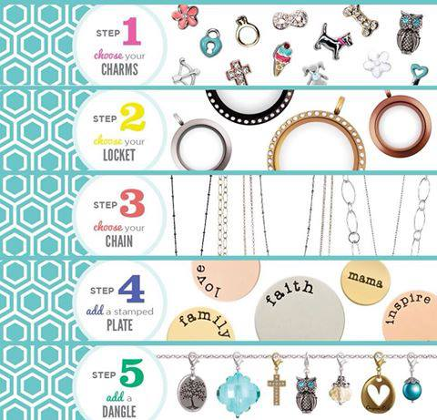 How to Put an Origami Owl Locket Together--The Steps!!