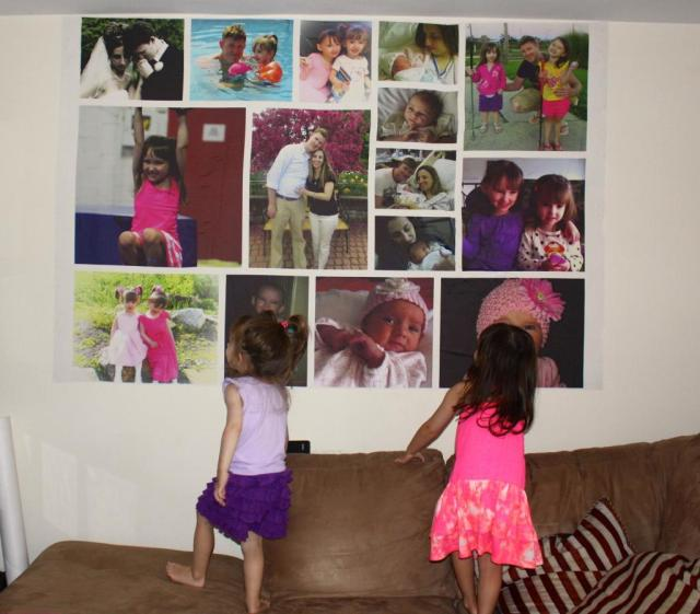 The Girls Fascinated by Seeing Our Pictures Hung On Our Living Room Wall!!