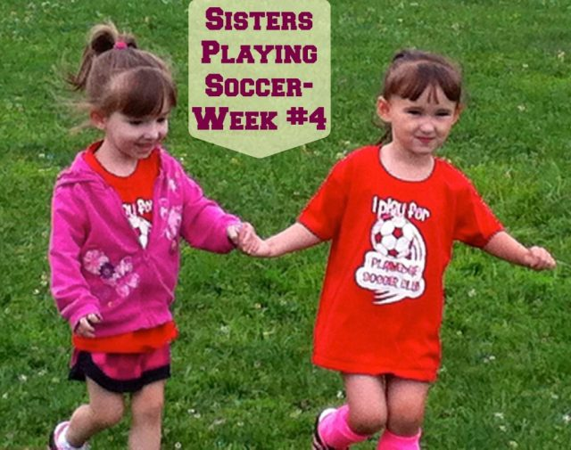 Sister Playing Soccer Together