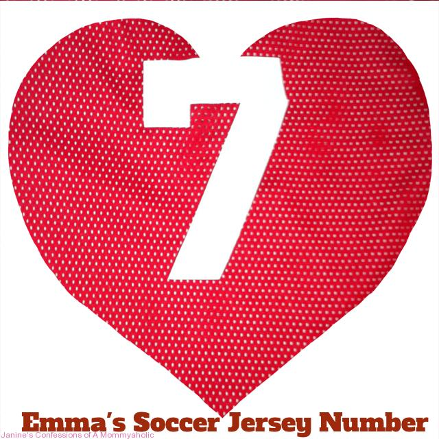 Emma's Fall Soccer Jersey Number