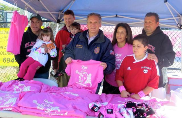 Photo Opp at Soccer with County Executive Ed Mangano
