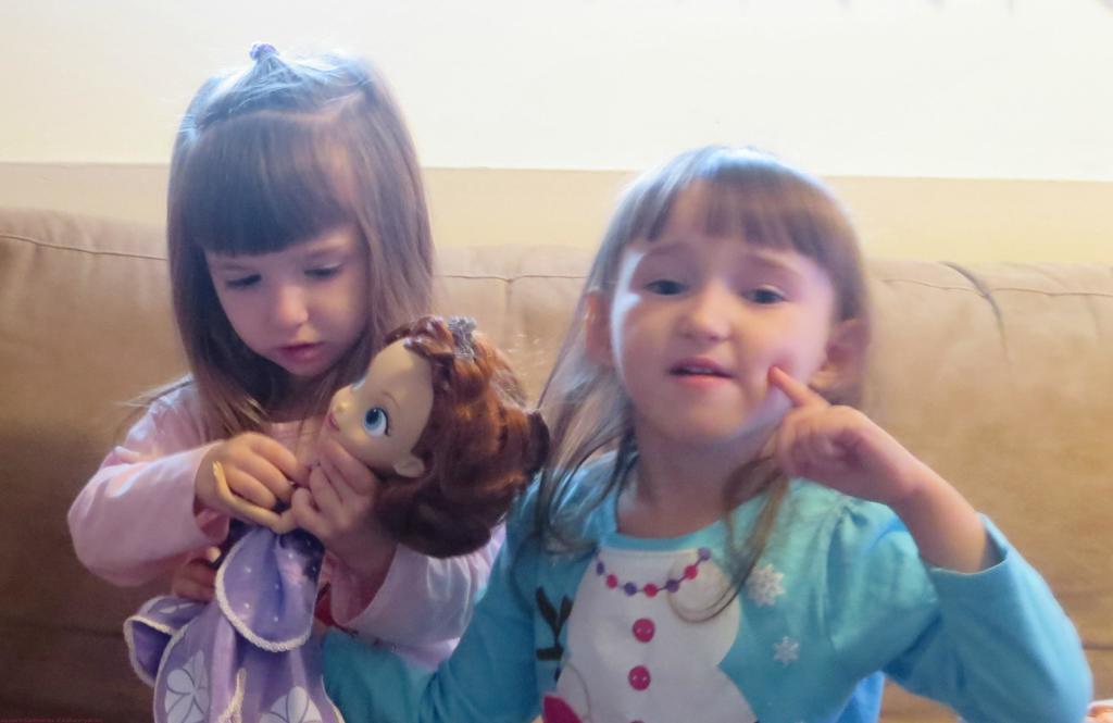 Both girls loving Sofia!
