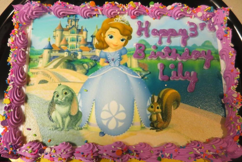Princess Sofia Cake from Carvel!
