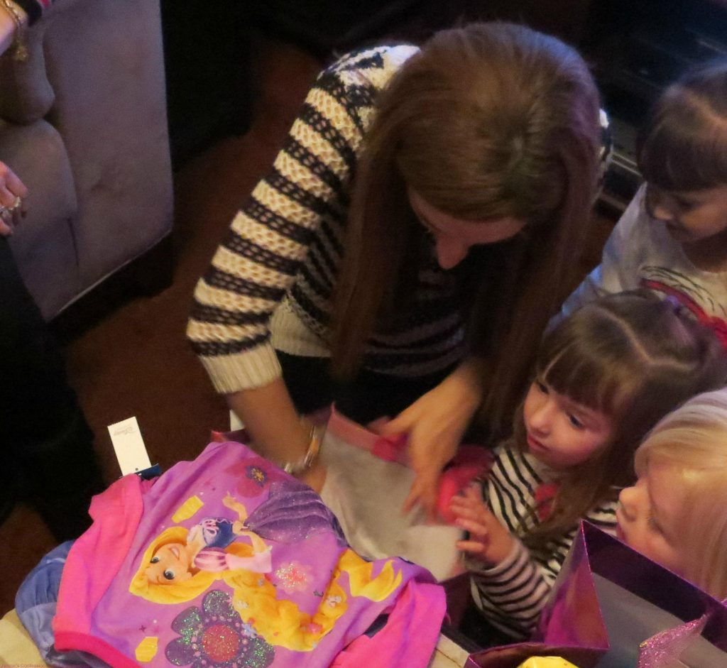 Opening her Presents!