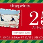 Tiny Prints 25% Off Holiday Cards PLUS free shipping (no minimum order!) Tonight ONLY