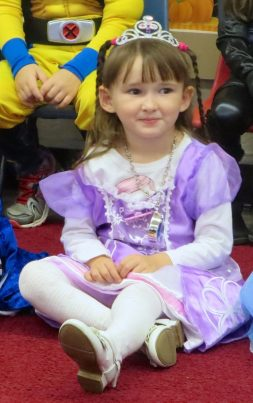 Emma Dressed up as Princess Sofia