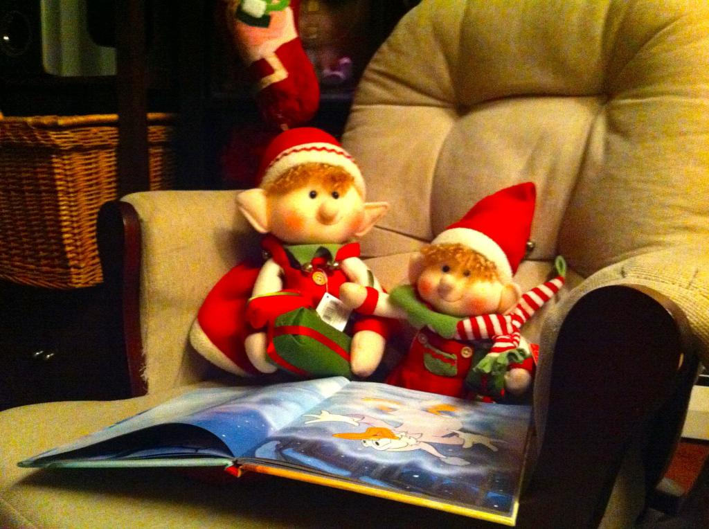 Gingerbread Being Read to By His Mommy Elf!